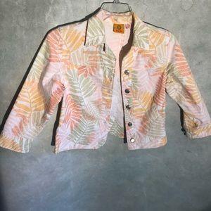 3/$20 Ruby rd. Cropped denim jacket